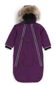 Canada Goose Bunny' Hooded Bunting with Fur Trim