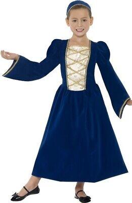 Girls Rich Long Tudor Princess Juliet Book Day Fancy Dress Costume Outfit - Rich Girl Kostüm