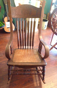 Antique Rocking Chair - Made In U.S.A. Kingston Kingston Area image 5