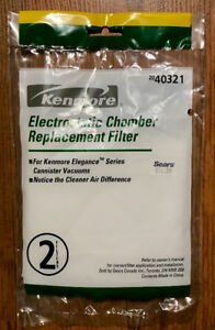 Sears#40321  electrostatic 2filters for Kenmore canister vacuum.