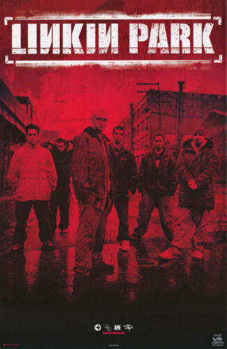 LOT OF 2 POSTERS :MUSIC : LINKIN PARK - GROUP - RED - FREE SHIP #7602  RC11 E