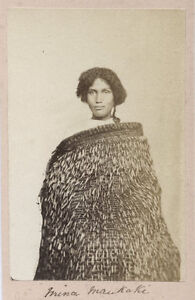c.1880's PHOTO NEW ZEALAND MAORI WOMAN MINA MAUKAKI (SP?)