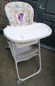 Joie Recliner high chair with table