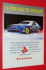 1990 FIRESTONE FIREHAWK TIRES AD WITH PORSCHE 944 - ANONCE RETRO