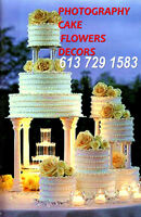 CAKE+FLOWERS+PHOTOGRAPHY for WEDDINGS  from $699 at 613 729 1583