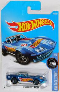Hot Wheels 1/64 '69 Corvette Racer Diecast Car
