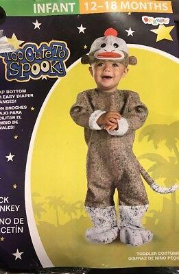 Sock Monkey Costume Infant 12-18 Months Free - Sock Monkey Costume Baby
