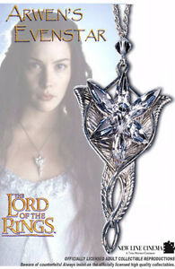 Lord of the Rings Sterling Silver Evenstar + Sterling Chain