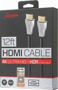 Rocketfish premium high speed hdmi cable with Ethernet 12ft
