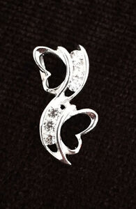 ***NEW*** Two-heart pendant - Sterling Silver