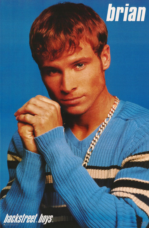 POSTER : MUSIC : BACKSTREET BOYS - BRIAN - BLUE SWEATER - FREE SHIP #7507 RW5 T