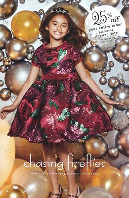 CHASING FIREFLIES Children's Fashion Catalog Christmas 2018 GIRLS BOYS FAMILY