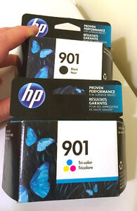 Ink cartridge Hp 901 black and 2- tri-colour West Island Greater Montréal image 1