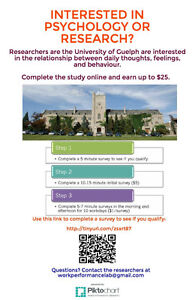 Participate in a Psychology Study for Money