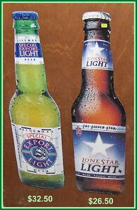 Lonestar Light  Bottle Shape Tin Sign Belleville Belleville Area image 1
