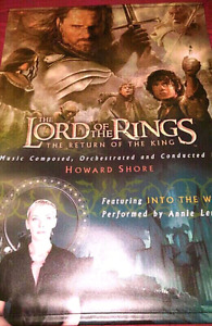 Lord Of The Rings Thick Vinyl Poster