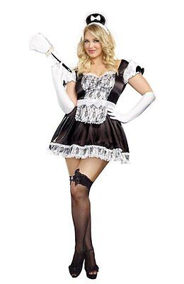 Sexy French Maid For You Plus Size Adult Women Costume](Plus Size Maid Costumes)