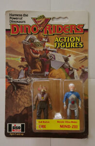 Dino Riders Action Figures Fire / Mind-Zei 1987 by Tyco