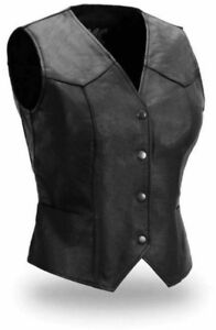 Ladies Genuine Leather Vest...Like NEW!!