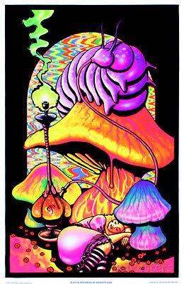 Alice In Wonderland Dreaming Flocked Blacklight Poster Art Print  23X34