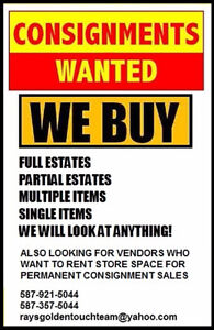 NEW STORE: Looking for vendors, consignments & items to buy