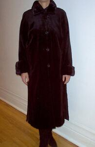 Superbe manteau de vison noir/Beautiful black sheared mink coat
