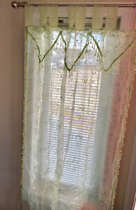 Mint green- sheer curtains
