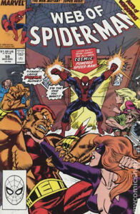 Web of Spider-Man Mark Jewelers #59MJ 1989 FN Stock Image