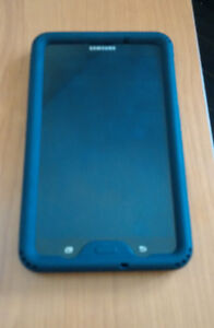 Samsung Galaxy Tab A 7.0, Case and Tempered glass, LIKE NEW!