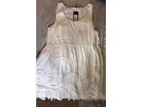 Lace trim smock dress size 16