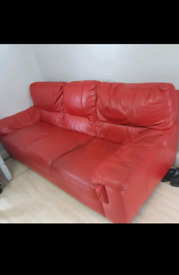 Free Dfs red leather sofa