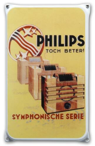 Emaille reclamebord Philips radio