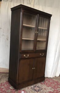 A vintage display cabinet, solid wood, newly refurbished