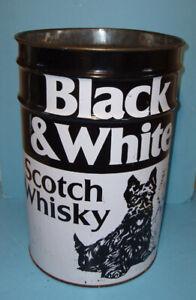 BLACK & WHITE SCOTCH WHISKY, BARIL MÉTALLIQUE