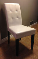 4 Parsons dining chairs. Structure EUC material needs recovering