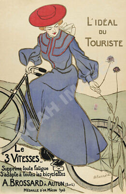 Le Vitesses vintage bicycle tire ad poster 16x24