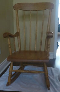 Harvest House Solid Oak Rocking Chair