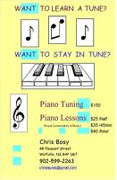 Piano Lessons $25 and Tuning $150