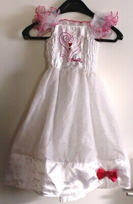 Original Barbie Kleid 104 / 110 / 116 Weiß Braut Prinzessin Karneval, Fasching ()