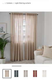 (sold) Ikea Dytag linen beige curtains