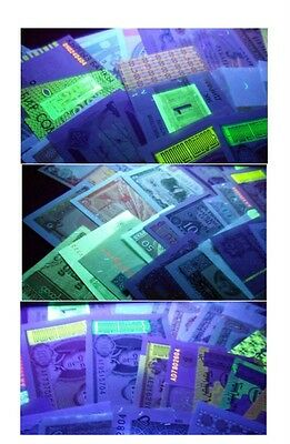 Lot 100 Pieces (PCS) Different MIX world Notes From 30 Foreign Countries, UNC
