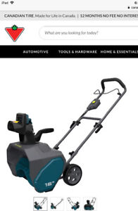 BNIB Yardworks Snowthrower