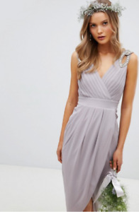 [BRAND NEW] TFNC Wrap Embellished Midi Dress