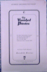 The Vanished Priestess by Meredith Blevins (2004) TPB ARC