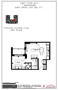 315 McRae - 1 Bedroom with Balcony available for November 1!