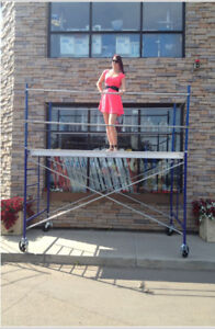 "Scaffold Tower with 5' x 5' Frames & 10' x 19"" Platform"
