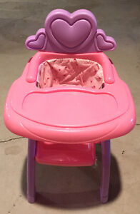 Baby rocking cradle and high chair