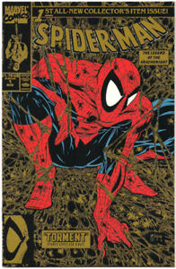 Comic Book, Spider-man #1 (1990 Series) Gold Variant