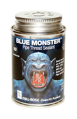 Mill Rose Blue Monster Blue Pipe Thread Sealant 4 Oz.