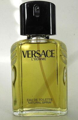 Vintage Versace L'Homme Eau de Toilette Spray 3.3oz Damaged Box